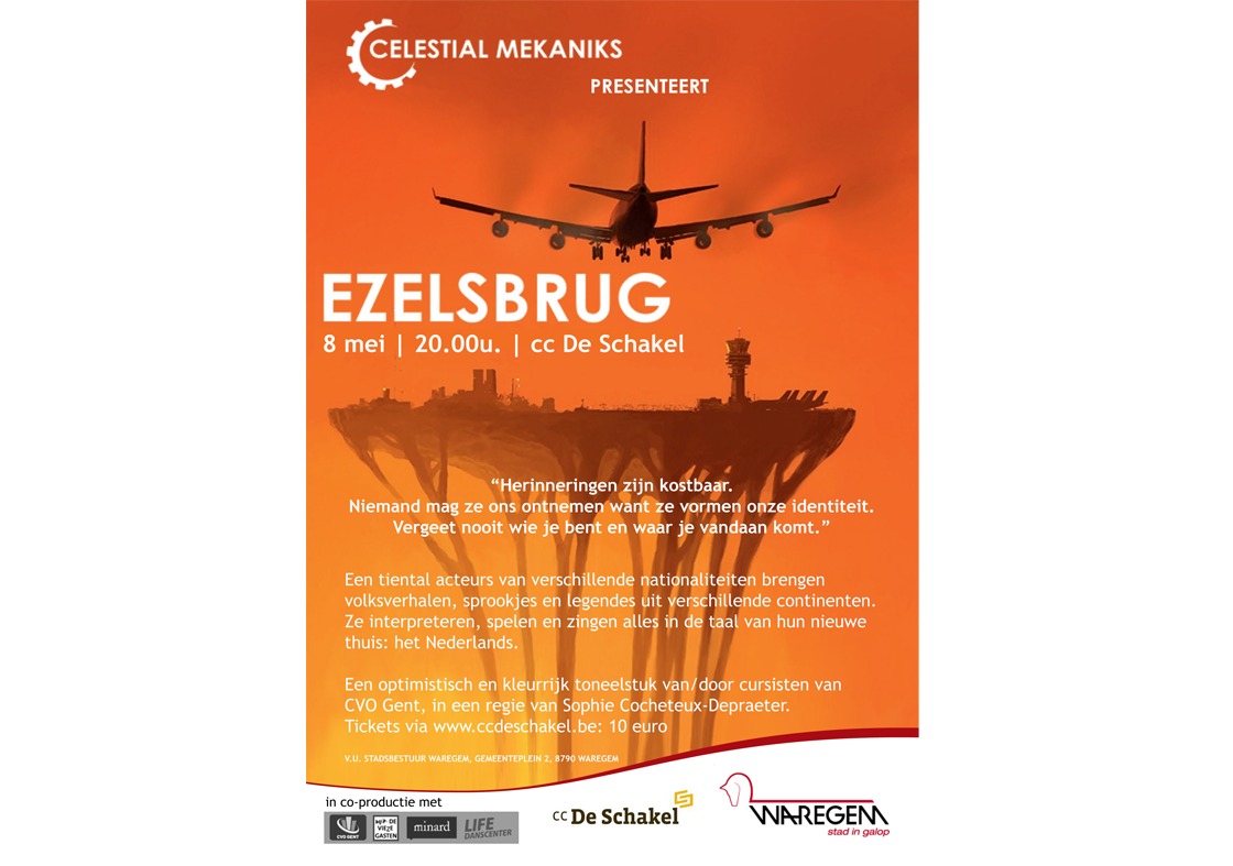 """Ezelsbrug"", Celestial Mechanics theaterproductie"